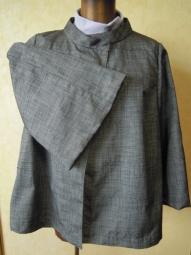 正絹紬ジャケット袖の感じ180623