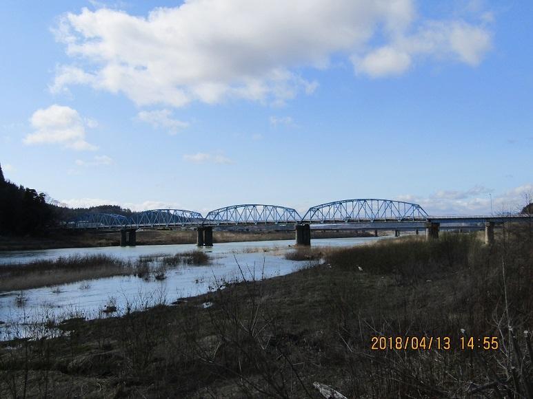 米代川の鉄橋1
