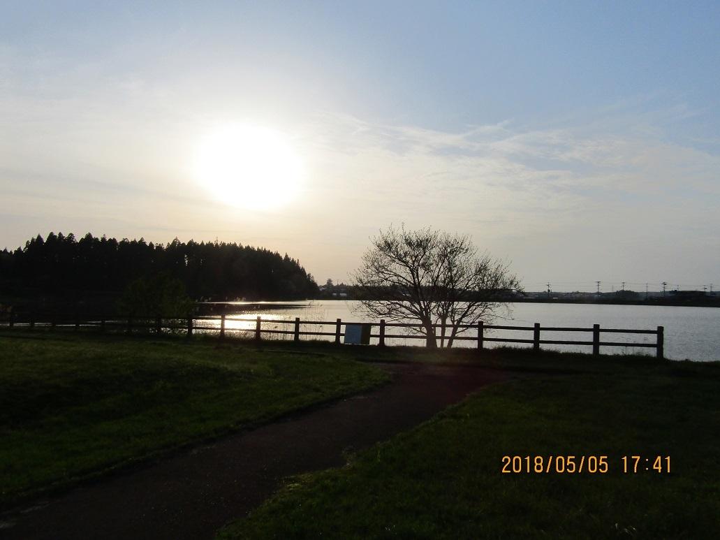 惣三郎公園の夕日1