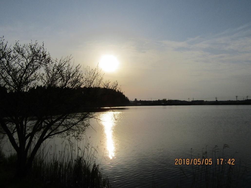惣三郎公園の夕日2