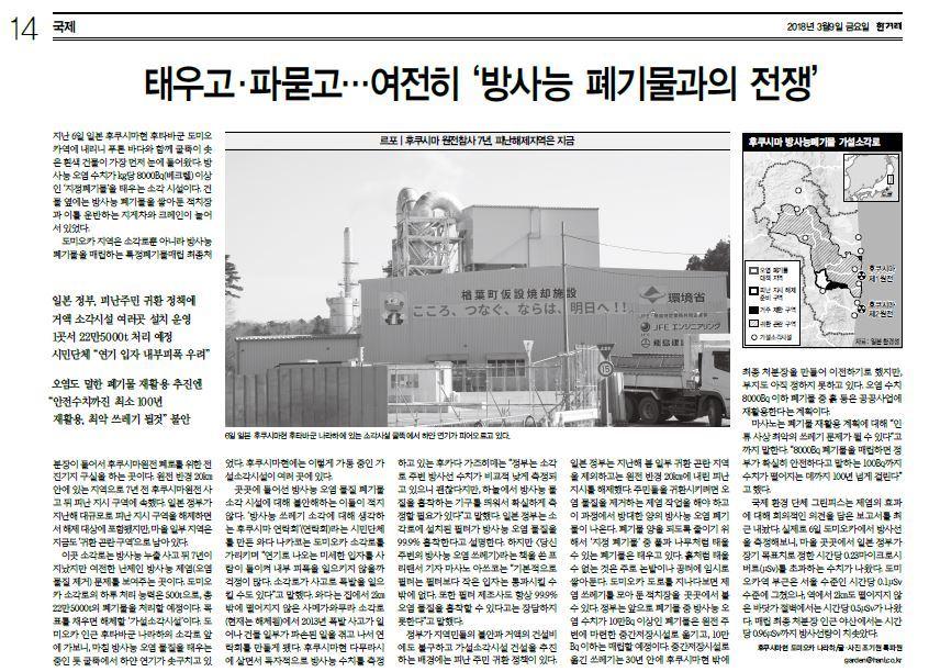 ハンギョレ新聞20180309