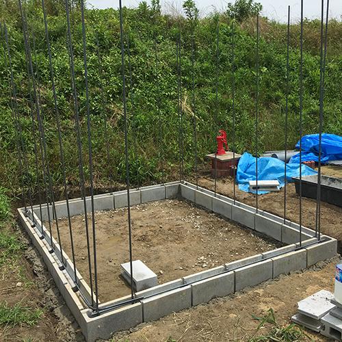 一人で作るブロック小屋① ~小屋の基礎をつくる~⑬