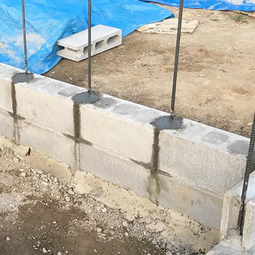 一人で作るブロック小屋② ~鉄筋位置の補正~⑪