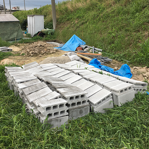 一人で作るブロック小屋① ~小屋の基礎をつくる~④