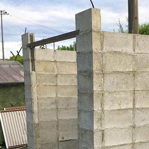 一人で作るブロック小屋④ ~ブロック積み完了~②