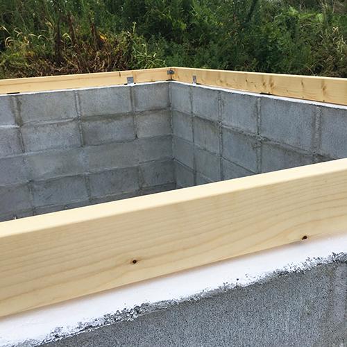 一人で作るブロック小屋⑤ ~屋根の骨組み~⑤