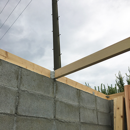 一人で作るブロック小屋⑤ ~屋根の骨組み~⑦