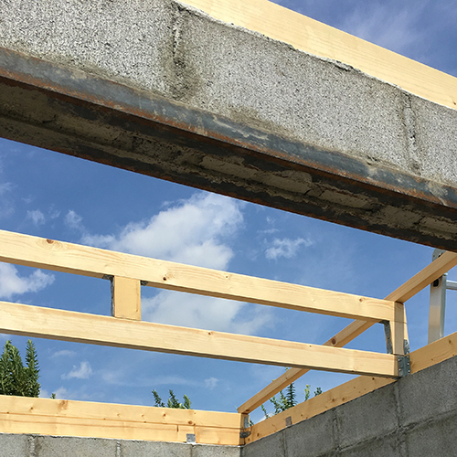 一人で作るブロック小屋⑤ ~屋根の骨組み~⑧
