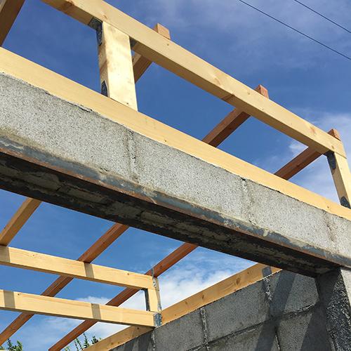 一人で作るブロック小屋⑤ ~屋根の骨組み~⑩