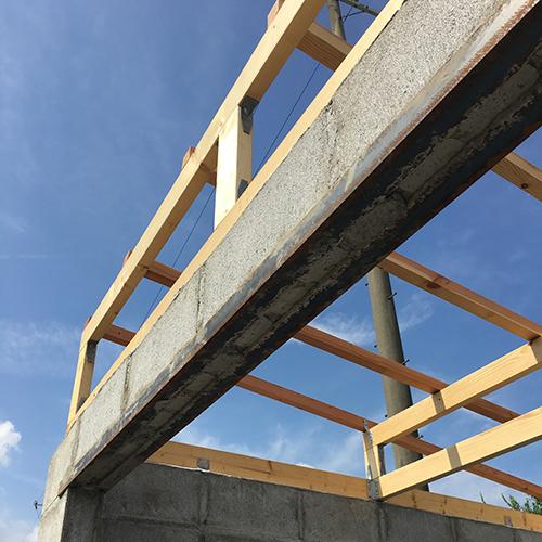 一人で作るブロック小屋⑤ ~屋根の骨組み~⑪
