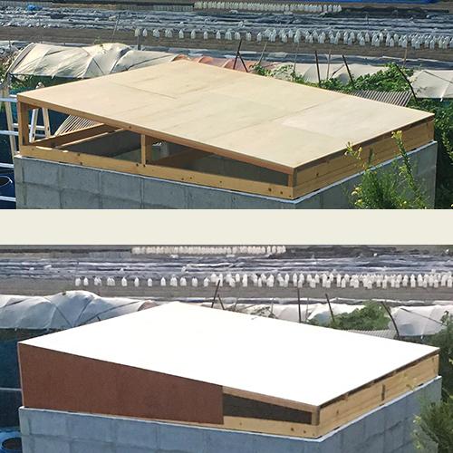 一人で作るブロック小屋⑥ ~屋根の板張り~③