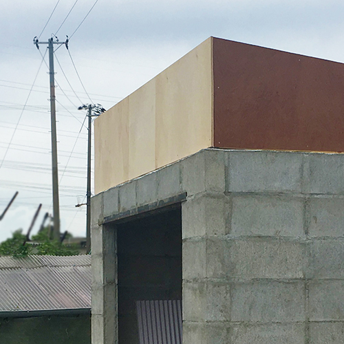 一人で作るブロック小屋⑥ ~屋根の板張り~⑤