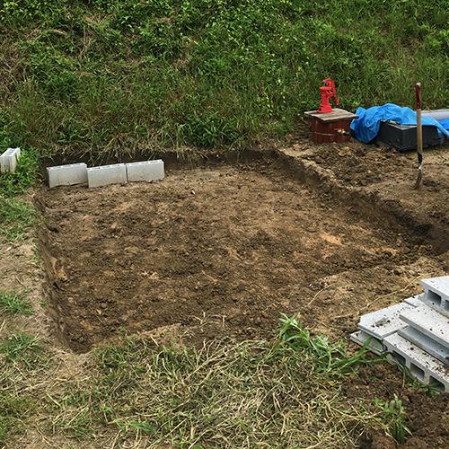 一人で作るブロック小屋① ~小屋の基礎をつくる~⑧