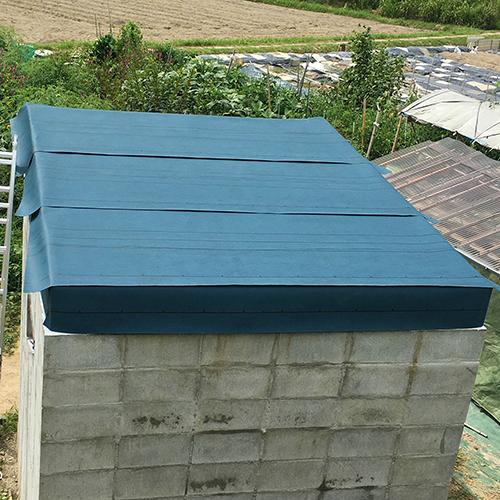 一人で作るブロック小屋⑦ ~屋根の防水~④