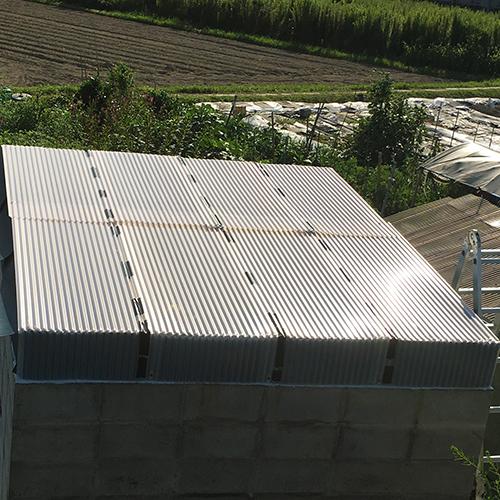 一人で作るブロック小屋⑦ ~屋根の防水~⑥