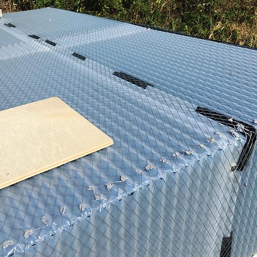 一人で作るブロック小屋⑦ ~屋根の防水~⑨