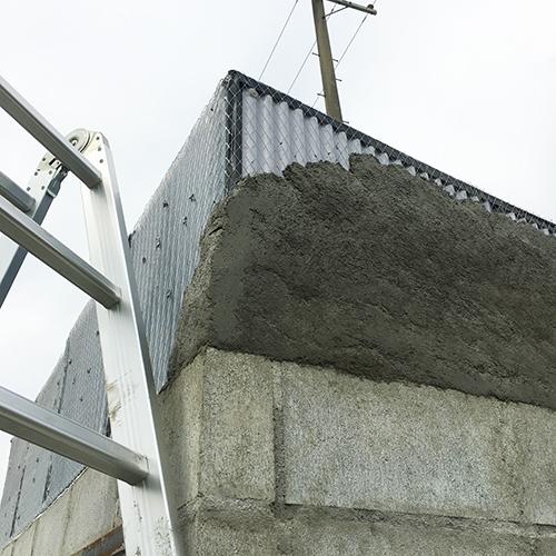一人で作るブロック小屋⑦ ~屋根の防水~⑪