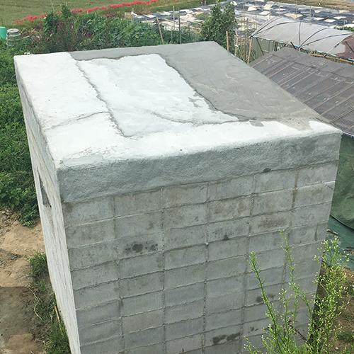 一人で作るブロック小屋⑦ ~屋根の防水~⑬