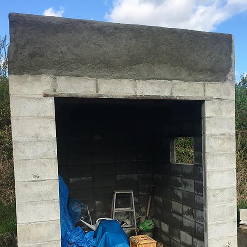 一人で作るブロック小屋⑦ ~屋根の防水~⑭
