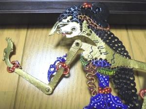 ジャワ水牛の皮の影絵人形