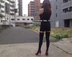 黒フェティッシュボディスーツ②