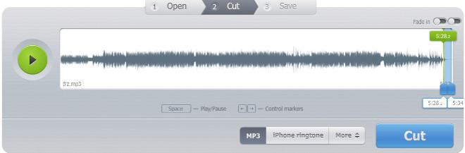 音声ファイルをトリミング4