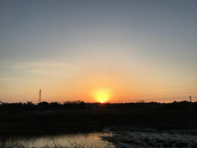 夕陽 宝達志水 大海川