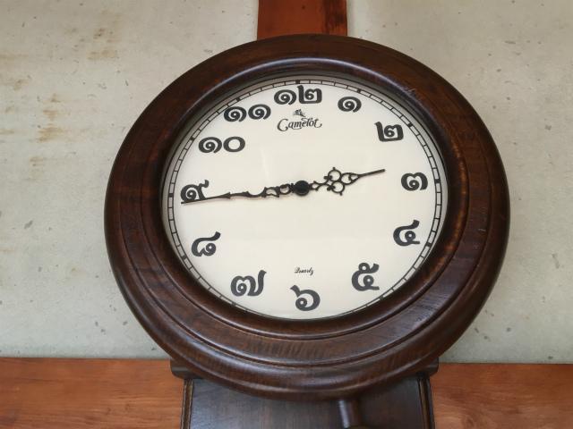 20180709タイ語の文字盤時計?