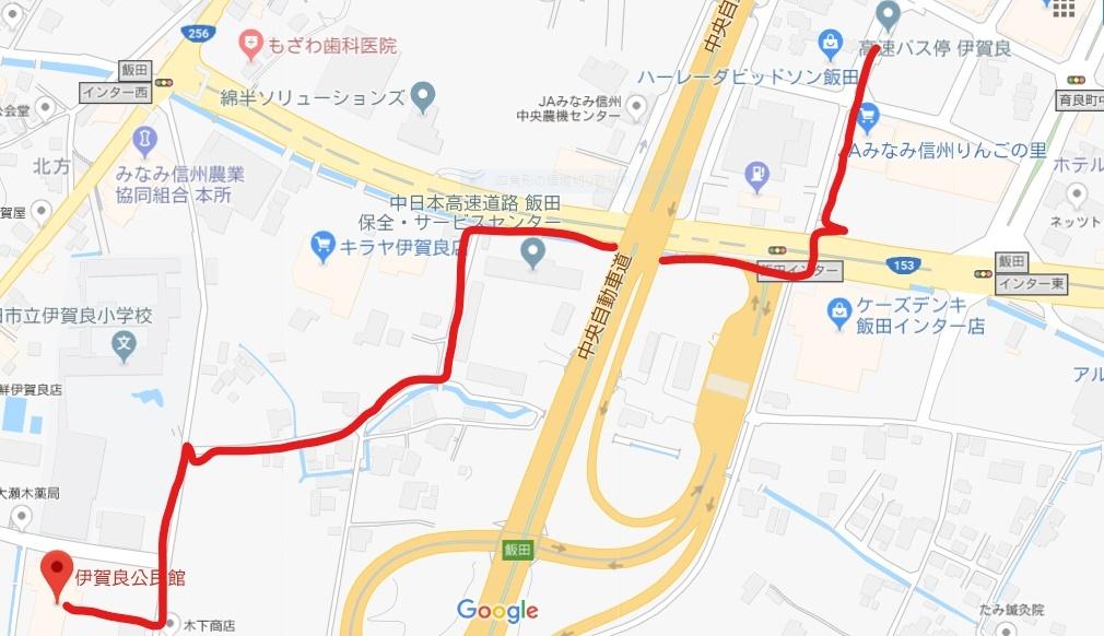 伊賀良公民館の地図