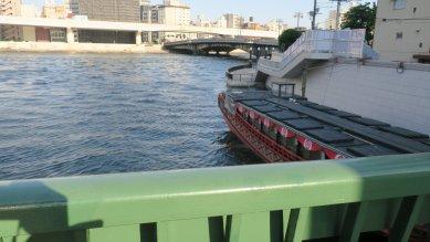 柳橋から両国橋を望む