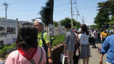 植竹小学校の展示コーナー