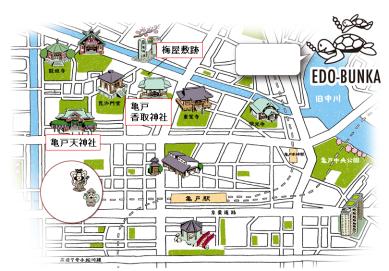 亀戸界隈地図