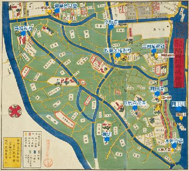 隅田川向島絵図
