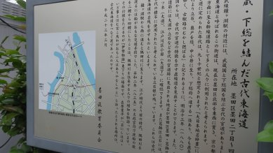 古代東海道at鐘ヶ淵駅付近
