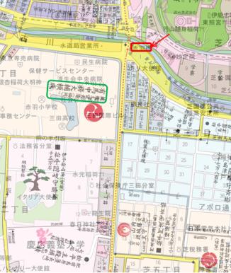 赤羽橋方面(重ね図)