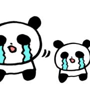 「ごめんなさい」するパンダの親子