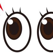 クリっとした目