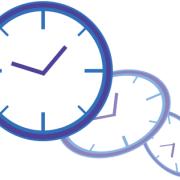 時間が経過していく時計