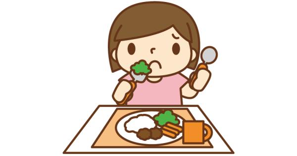 食べ物の好き嫌いがある女の子