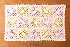 【1点限り】コットン・かぎ針編みのモチーフつなぎNo.3