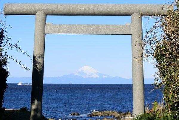 洲崎神社―富士山