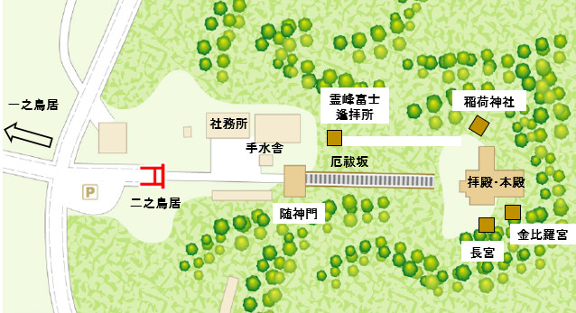洲崎神社 境内図 (2)