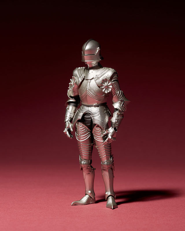 KT-021 タケヤ式自在置物 15世紀ゴチック式フィールドアーマー シルバFIGURE-040394_01