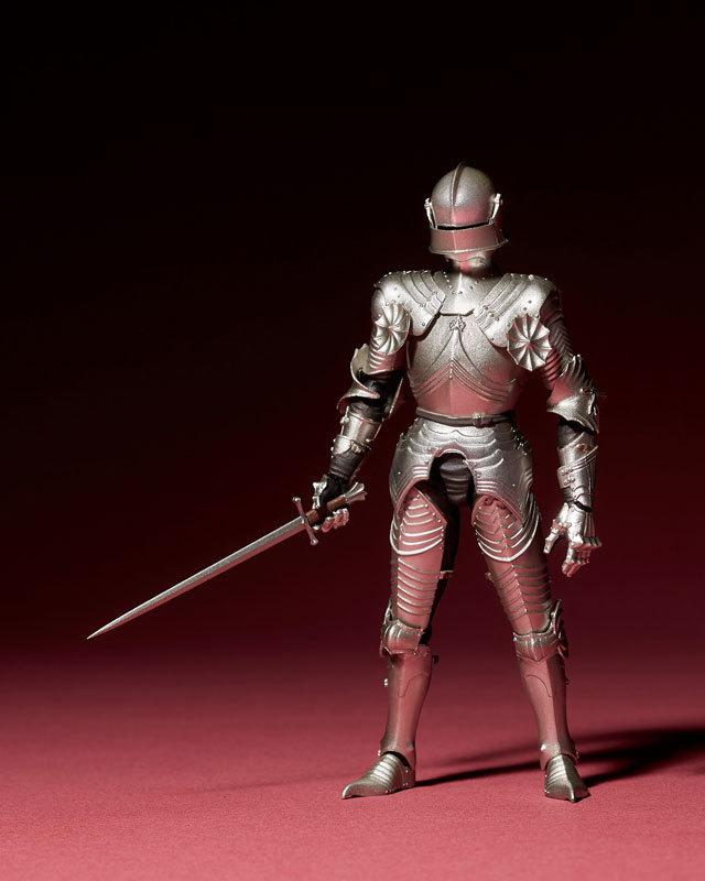 KT-021 タケヤ式自在置物 15世紀ゴチック式フィールドアーマー シルバFIGURE-040394_03