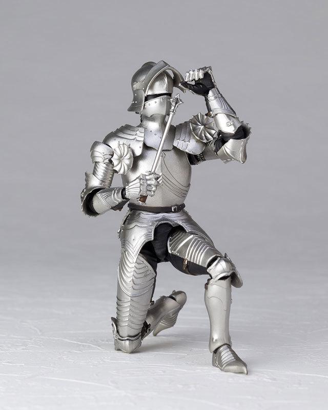 KT-021 タケヤ式自在置物 15世紀ゴチック式フィールドアーマー シルバFIGURE-040394_05