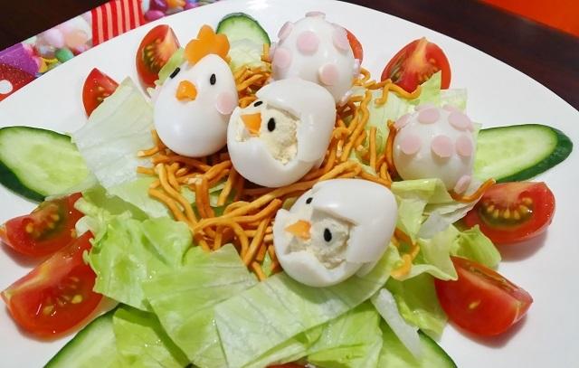ベビースターラーメンを使えば超簡単!鳥の巣サラダを作ってみました2