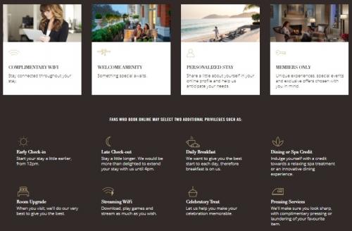 マンダリンオリエンタルホテル ロイヤリティープログラム