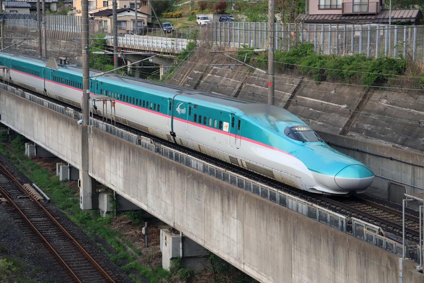 20180505夕方の上り新幹線
