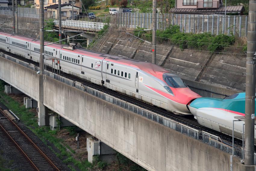 20180505夕方の上り新幹線2