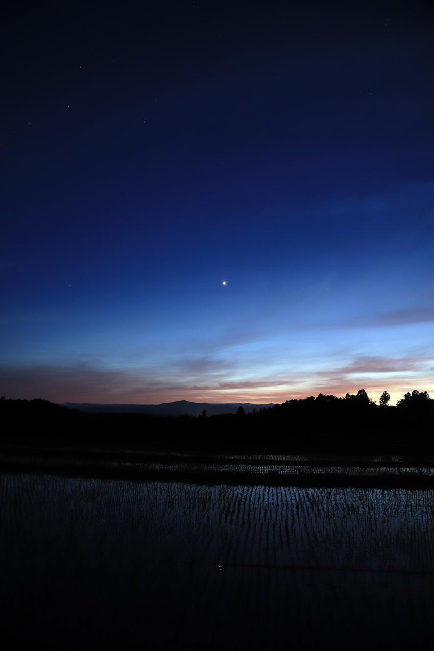 20180614夕景と金星